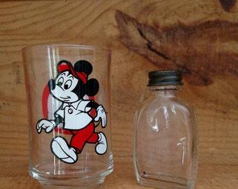 Vintage Disney - Vintage Walt Disney - Vintage Walt Disney World Mickey Mouse Club Souvenir Glass - Walt Disney Productions - Free Shipping