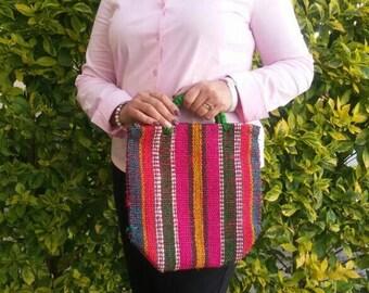 Mexican mercado bag, Mexican yute tote bag, Mexican natural fiber bag, Mexican Ethnic tote bag, Mexican Woven Morral, Mexican beach tote bag
