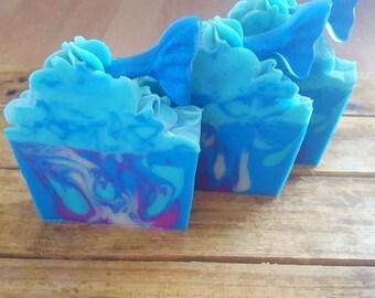 Mermaid Handmade Soap, Mermaid Tail Soap - Blue Soap, Handmade Soap, Artisan Soap, Shea Butter Soap, Cold Process Soap