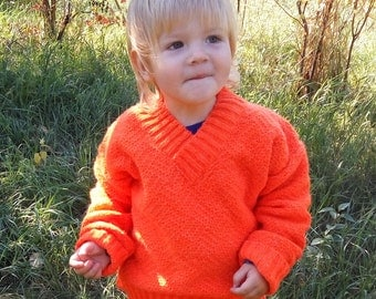 sweater for baby girl boy orange warm Knit  sweater Baby  jumper Knitted pullover