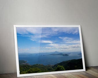 Taal Volcano, Taal Lake, Tagaytay, Philippines, Philippines Photography, Travel Photography, Wall Print, Taal Lake Photo, Photo Home Decor