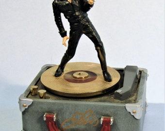 Elvis Presley Heartbreak Hotel Figural Music Box by Franklin Mint 1998