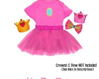 Princess Peach Inspired Tutu Set - Marios Bros - Nintendo Character