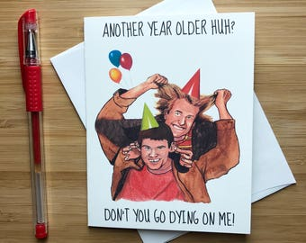 Harry and Lloyd Birthday Card, Jim Carrey, Funny Birthday Humor, Happy Birthday Cards, Funny Birthday Greeting, Bday Cards, 1990s Retro