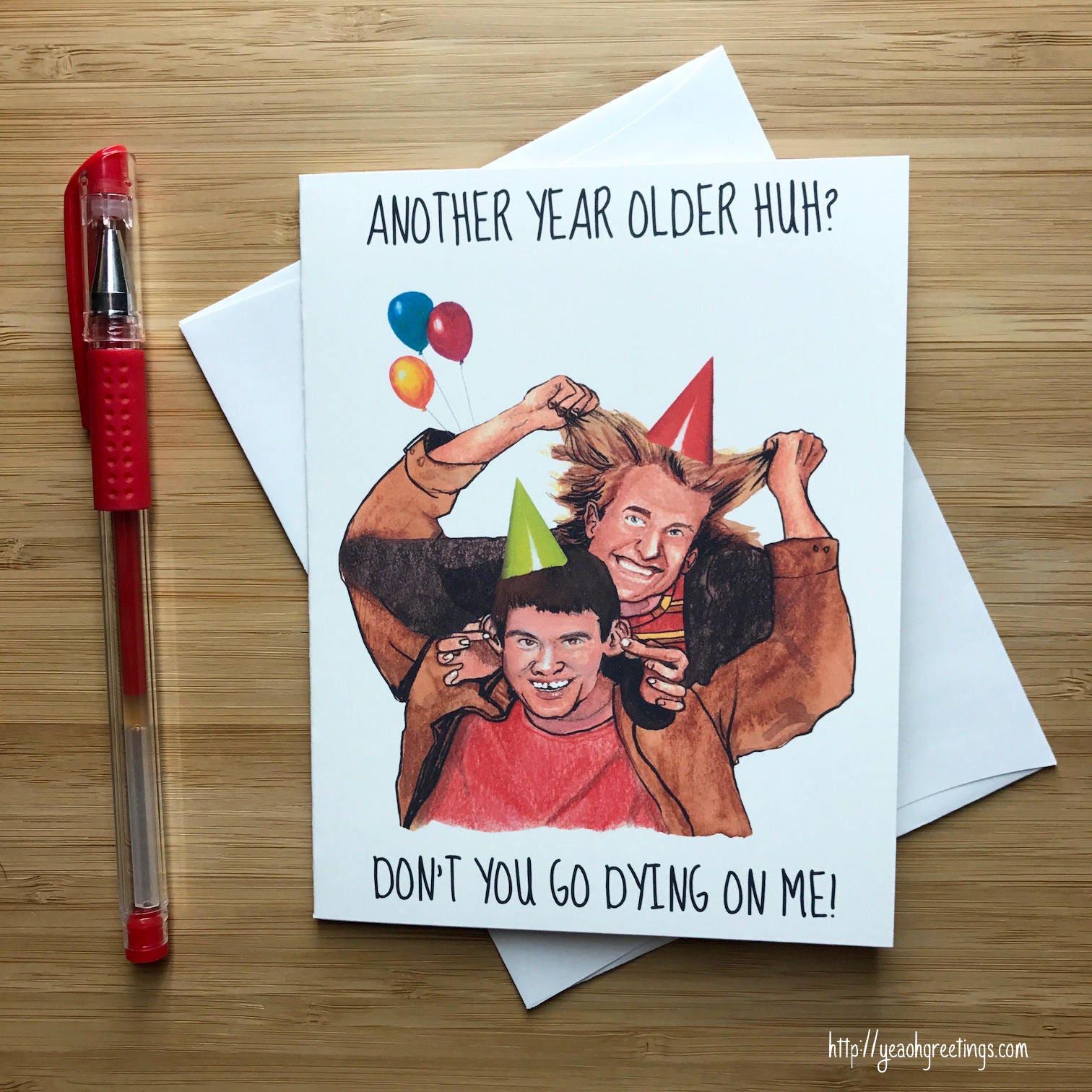 Dumb and Dumber Birthday Card Harry and Lloyd Jim Carrey