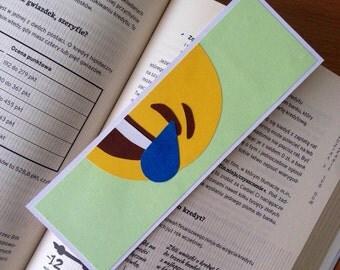 Color Emoji Bookmarks - set of five, gift, bookmark, present