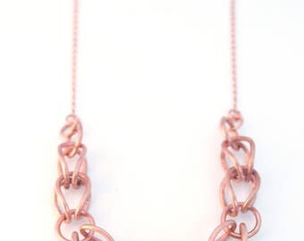 Reclaimed Copper Link Necklace / Boho Necklace /  Copper Jewelry / Repurposed Electrical Wire / Cyclical Collection
