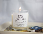 Custom Message Mimosa Candle - Custom Gift - Soy Candle - Candle - Custom Candle - Champagne Candle - Minimalist Candle - Minimilist Gift