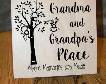 Grandma and Grandpa's Place Ceramic Tile