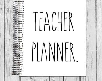 18-19 Teacher Planner | | July 2018 - June 2019 Lesson Planner | Plan Book | Lessons | Record Book | Gift Spiral Calendar Agenda| Rae Dunn