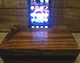 Acoustic Cell Phone Amplifier , Wooden, Wood, Music, Handmade,  Sound, Samsung, Galaxy S7, Speaker Volume, Louder Sound,