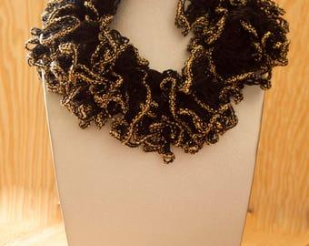 Crocheted Women's Fashion Scarf - Crocheted Ruffle Scarf - Lightweight Scarf - Ruffled Fashion Scarf - Light Fashion Scarf - Ruffle Scarves