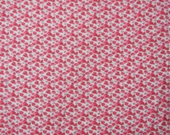 "Decorative Fabric, Floral Print, White Fabric, Handmade, Designer Fabric, 41"" Inch Cotton Fabric By The Yard ZBC5683"