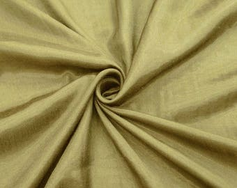 "Greenish Beige Shantung Fabric, Sewing Crafts, Dupioni Silk, Dress Fabric, 42"" Inch Wide Fabric By The Yard ZSH4G"