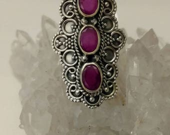 Victorian Ruby Ring Size 6
