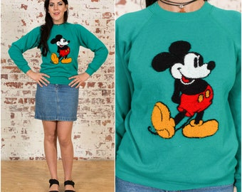 DISNEY! Textured Mickey Turquoise Sweater / Size S