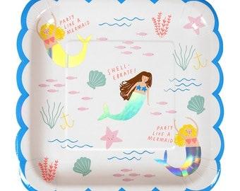 Meri Meri: Mermaid Large Plates
