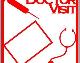 Scrapbook Overlay - Doctor Visit