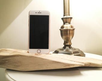 Driftwood iPhone Dock, iPhone docking station, iPhone charging station, iPhone charger, wooden iPhone dock - F3