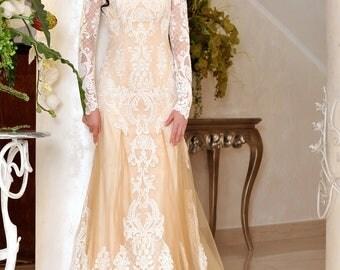 Lace Wedding DressWedding Dress 2017Buttons On The BackOpen Back