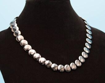 Black Onyx and Hematite Disc Necklace