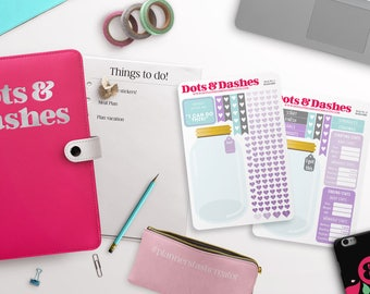WL, Weight loss kit, weight loss planner stickers, weight tracker, note section kit, fitness stickers, workout stickers