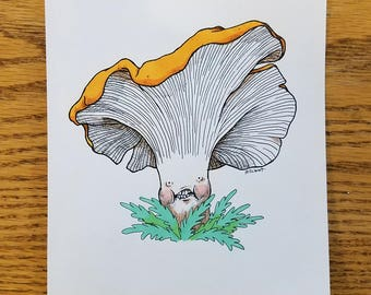 Chanterelle — Original Drawing