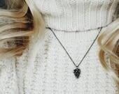 Pine Cone Pendant Necklace
