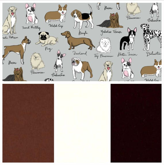 Dog Breeds, Weighted Blanket, Cotton Flannel, Up to Twin Size, 3 to 20 Pounds, Adult Weighted Blanket, SPD, Autism, Calming Blanket