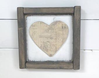 Framed Heart Wall Decor