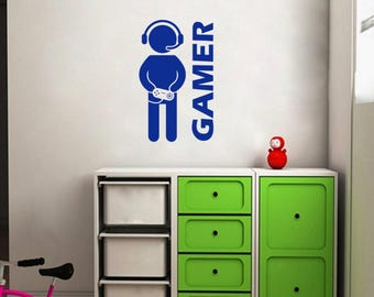 video game wall decals | etsy