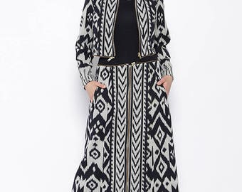 3 in 1 Handwoven Ikat Jacket, Outer and Dress