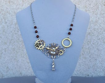 Steampunk Choker, Steampunk Necklace, Steampunk Jewelry, Gear Necklace, Victorian Jewelry, Neo Victorian Necklace,Cogs and Gears,Friend Gift