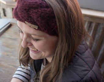 Cable Knit Headband - Winter Headband - Gift for Her - Gift for Women - Winter Ear Warmer - Winter Fashion - Crown Headband