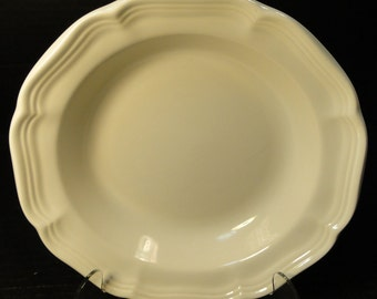 "Mikasa French Countryside Soup Bowl 8 1/2"" White Salad F9000 EXCELLENT!"