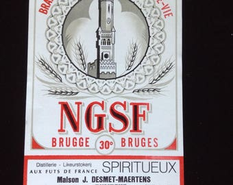 Vintage French Wine label NGSF Brugge 30