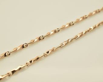 """18K Rose Gold Filled Chain 17"""" Inch CG211"""