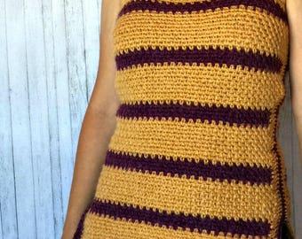 Tank Top Crochet PATTERN - Crochet Top Pattern - Striped Tank Top Crochet Pattern