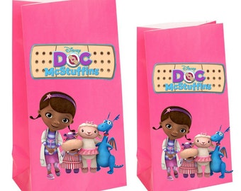 Doc mcstuffins Party gift Favor Bags~ Doc mcstuffins Birthday Party Inspired Decorations & Decor