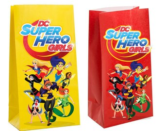 Dc superhero girls Party Favor Bag ~ dc superhero girls Birthday Party Inspired Decorations & Decor