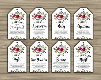 Superb image regarding printable wine tags for bridal shower gift