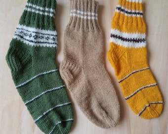 Woolen socks. Women socks. Knitted socks by hand. Ornate socks. Great gift. Warm socks. Winter socks.