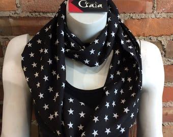 Infinite star scarf- black and white