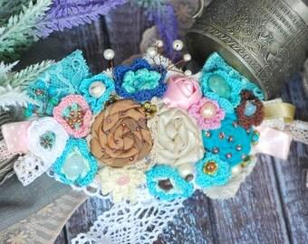 Bridal Head Wreath Bridal flower forest wreath Wedding headband Flower Hairpiece Flower Bridal Crown Retro Hair Flower Hair Vintage Wedding