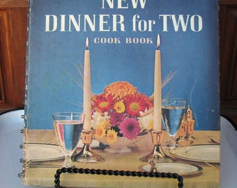 Vintage Betty Crocker's New Dinner for Two Cookbook, 1964 First Edition, Spiral Bound Hard Cover