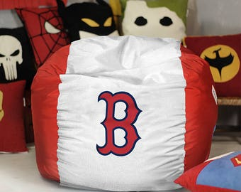 Boston RED SOX Bean Bag Cover Mlb Red Sox Decor Pouf