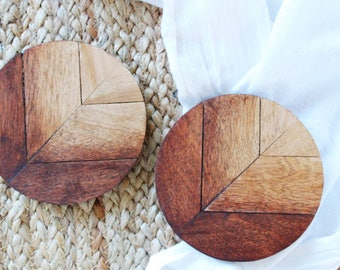 Coasters, Coasters Wood, Wood Coasters, Wooden Coasters, Set Of Four, House Warming Gift, New Home Gift, Wooden Coasters Set Of 4