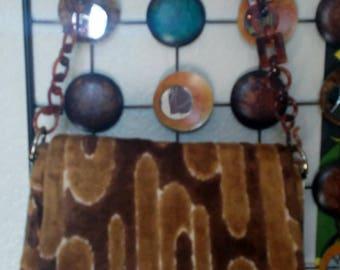 Mod Vintage 70's Carpet Handbag