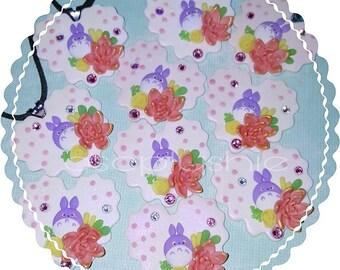 Purple Totoro Heart Necklaces