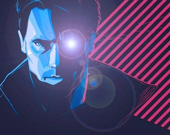The Terminator A4 fine art print ideal for framing